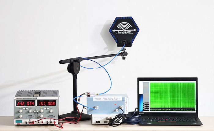Zdjęcie aparatury badawczej donasłuchu elektromagnetycznego