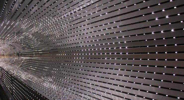 Fotografia przedstawiająca świetlny tunel